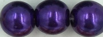 76 Deep purple - glass pearls - beads - all sizes